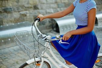 Bicycle skirt recreation ride fashion