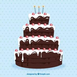 Big chocolate birthday cake