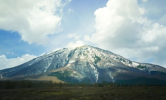 Big mountain with snow on top