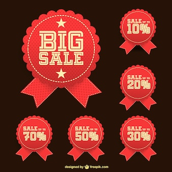 Big sale stickers