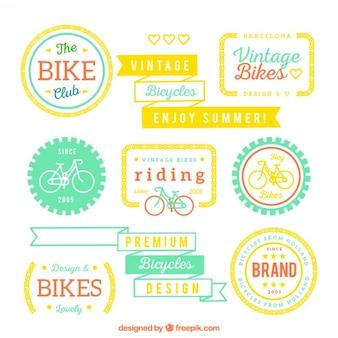 Bike badges in cute style