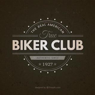Biker club vintage badge