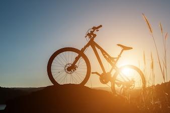 Biking leisure black sky riding