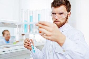 Biochemistry clinic eyeglasses biotechnology analyzing