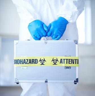Biotechnology suitcase disease symbol emergency