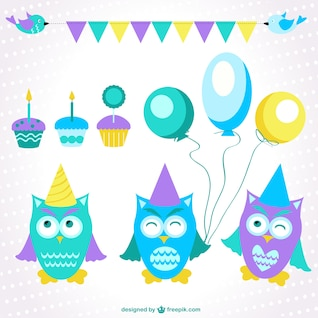 Birthday cartoons vector