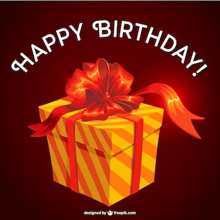 Birthday gift vector design