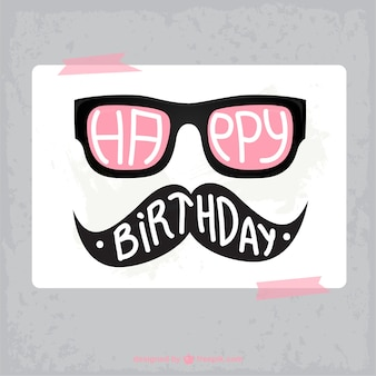 Birthday hipster card