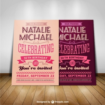 Birthday party mock-up design