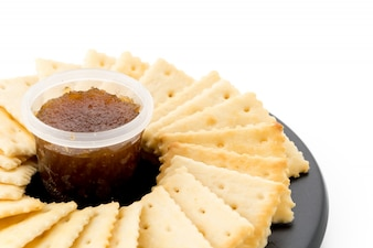 Biscuit with pineapple jam