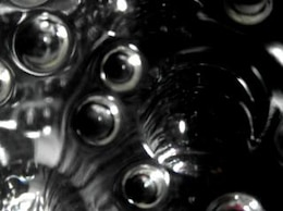 black abstract bubble background  render