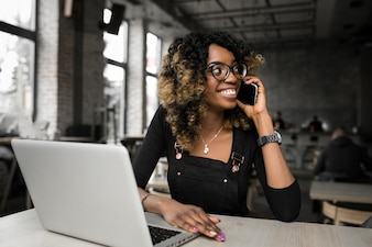 Black adult beautiful american business