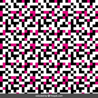 Black and pink pixel background
