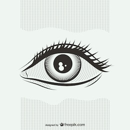 Black and white eye illustration