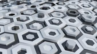 黒と白の六角形