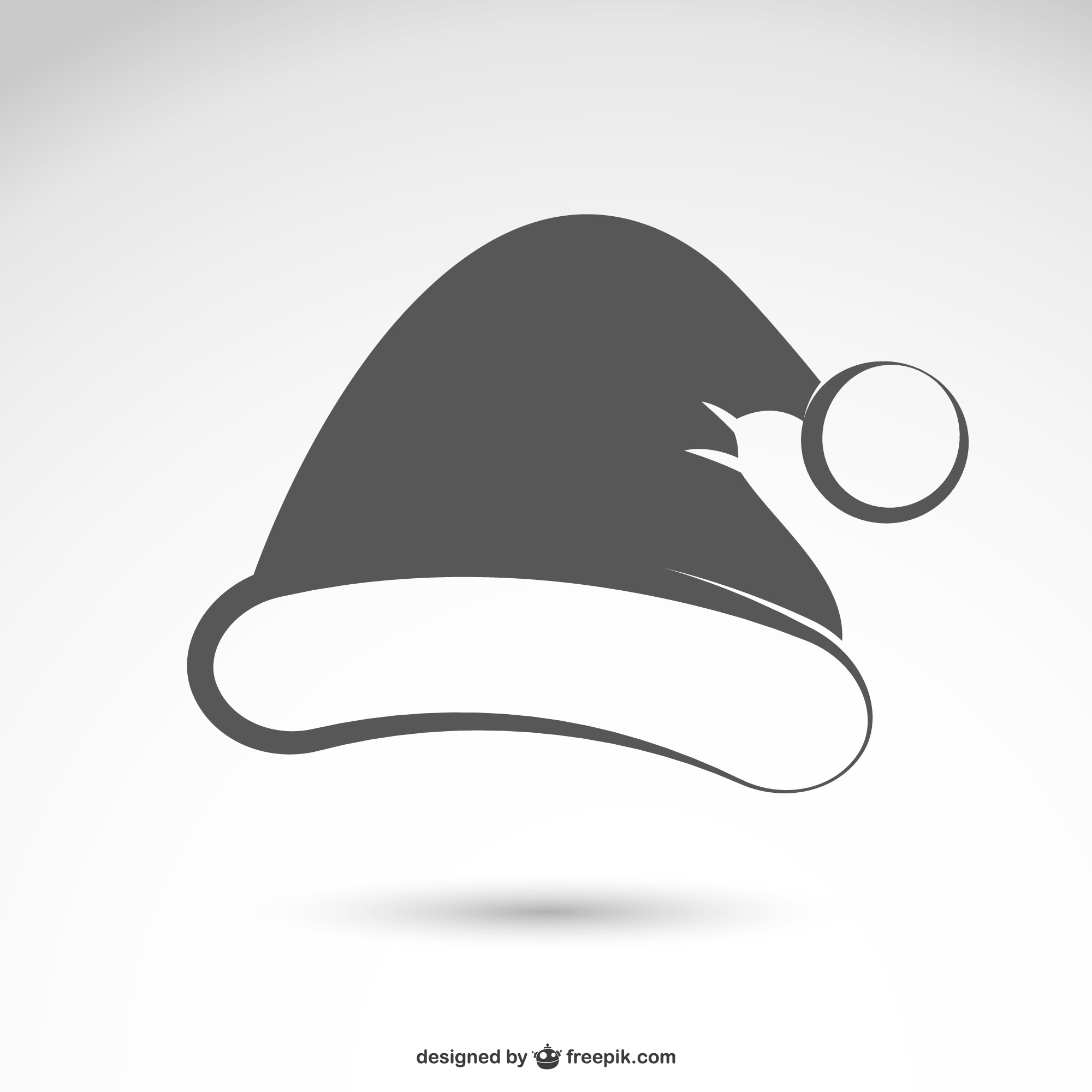 Black and white Santa Claus hat