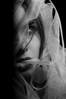 Black and white woman picture