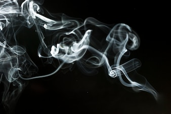 Black background with delicate smoke silhouette