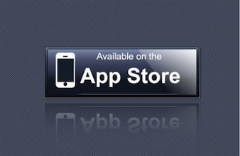 Black button of applications store