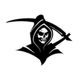 Black death grim reaper clip art