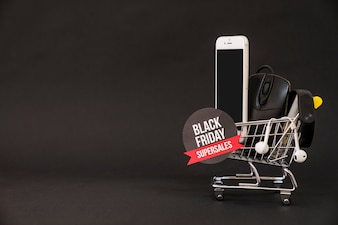 Black friday concept with space on left