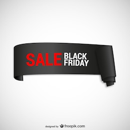 Black Friday sales ribbon