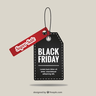 Black Friday super sale tag vector