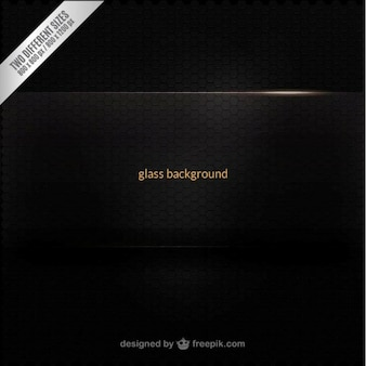 Black glass background