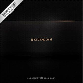 Black glass background