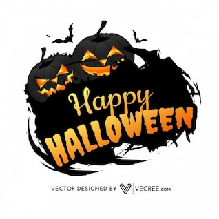 Black halloween pumpinks grunge silhouettes