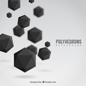 Black polyhedrons background