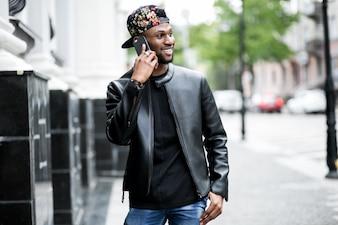 Black suit using fashion mobile summer