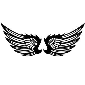 Black wings graphic design vector