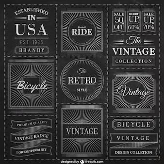 Blackboard badges in vintage style