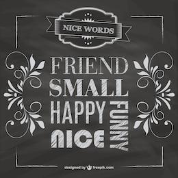 Blackboard friendship vector free