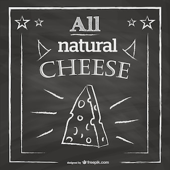 Blackboard restaurant menu cheese design