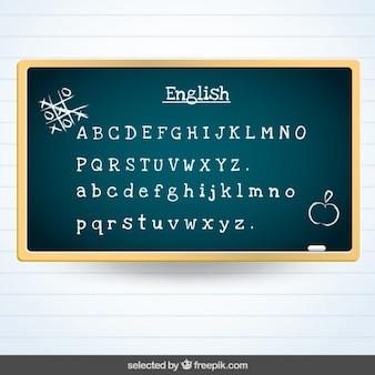 Blackboard with english subject