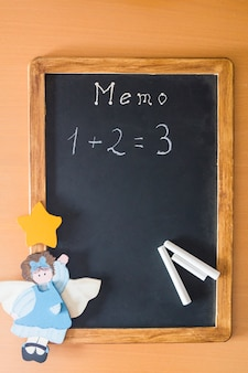 Blackboard with mathematical example