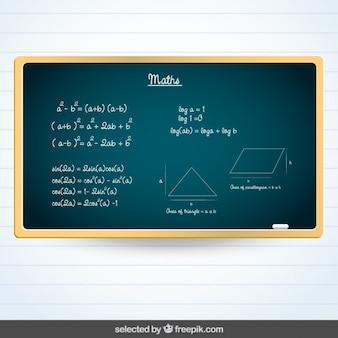 Blackboard with Maths subject