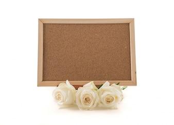 バラのある空のアートボード