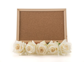 Blank art board with rose
