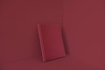 Blank book with red color effect