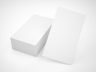 Blank business card pile mockup
