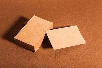 Blank cardboard business cards