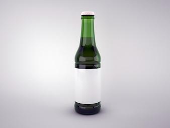 Пустая зеленая пивная бутылка