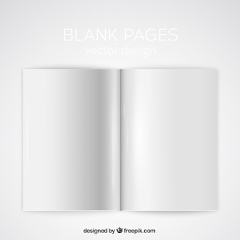 Blank pages mockup