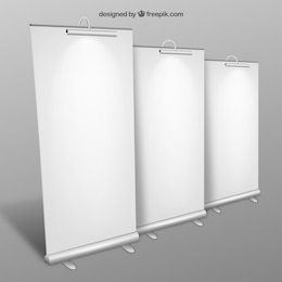Blank roll up banners collection