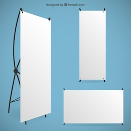Blank roll up banners