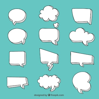 Blank speech bubble collection