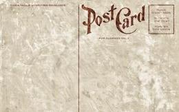 blank vintage postcard   grunge edition